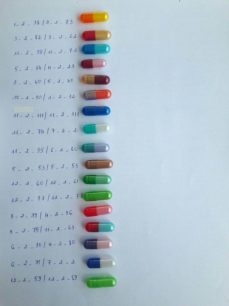 Các loại vỏ nang 2 màu